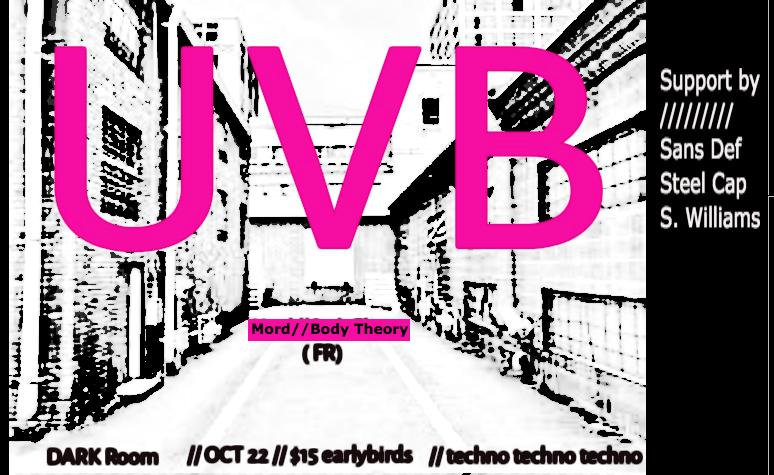 Now Muzik presents UVB (FRANCE) - SoundsGood
