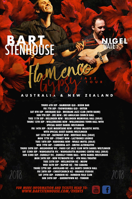 Bart Stenhouse & Nigel Date – Flamenco/Gypsy Jazz Tour - SoundsGood